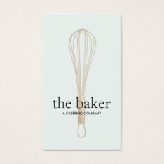 Pastry Chef Baker Whisk Logo Bakery Catering Ii Business Card at Zazzle