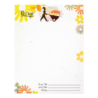 Pastry chef bakery baking recipe letterhead