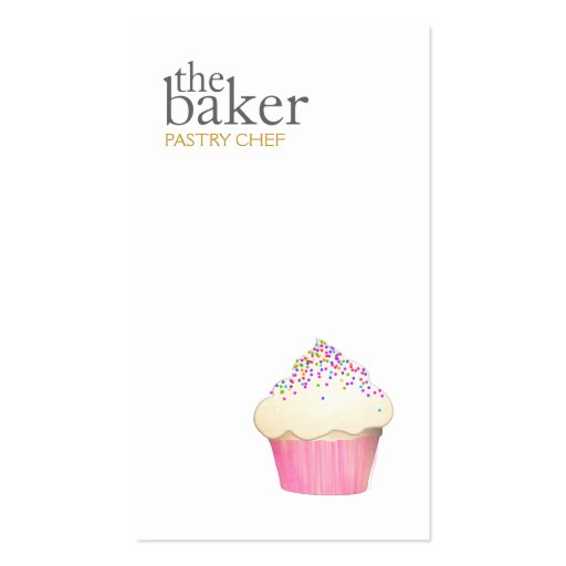 Pastry Chef Baking Cupcake Modern Simple Business Cards