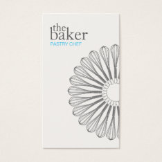 Pastry Chef Baking Whisk Modern Catering Business Card at Zazzle