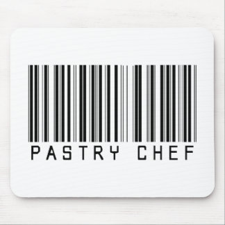 Pastry Chef Bar Code Mouse Pad