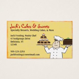 Pastry Chef Business Card