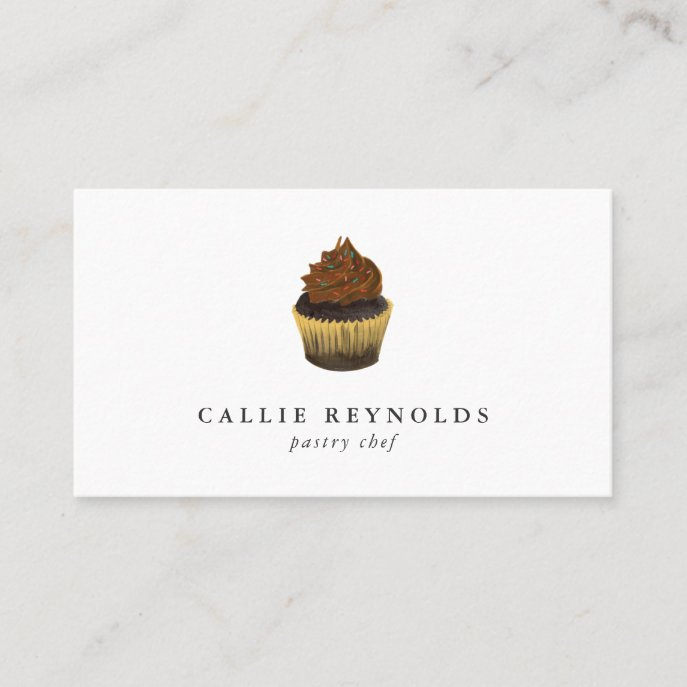 Pastry Chef Chocolate Cupcake Baker Business Card