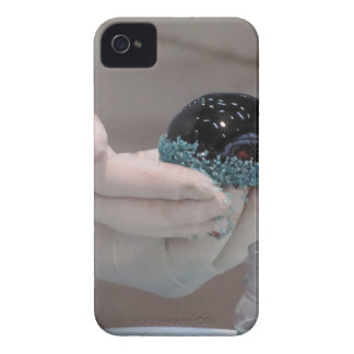 Pastry chef decorating a glazed chocolate cake iPhone 4 Case-Mate case