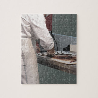Pastry chef in the kitchen jigsaw puzzle