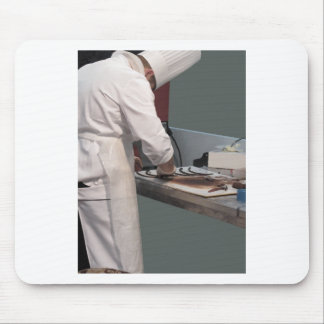 Pastry chef in the kitchen mouse pad