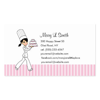 Pastry Chef Personal Calling Card - Customizable Double-Sided Standard Business Cards (Pack Of 100)