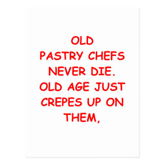 pastry chef postcard