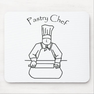 Pastry Chef Rolls Dough Mouse Pad