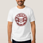 Pastry Chef Skull and Crossed Pastry Bags Red T Shirt