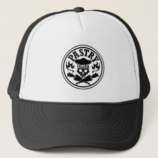 Pastry Chef Skull and Crossed Pastry Bags Trucker Hat