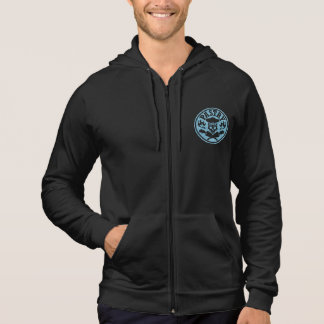 Pastry Chef Skull and Pastry Bags Light Blue Hoodie