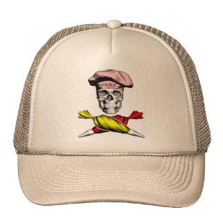 Pastry Chef Skull Hats