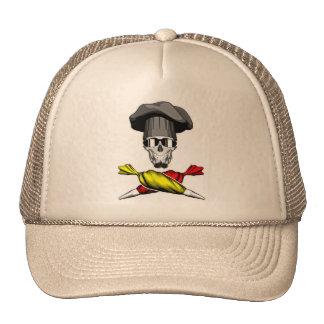 Pastry Chef Skull Trucker Hat