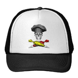 Pastry Chef Skull Trucker Hats