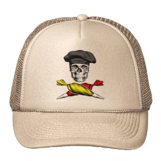 Pastry Chef Skull Mesh Hats