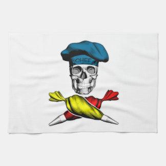Pastry Chef Skull Kitchen Towel