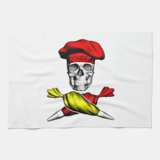Pastry Chef Skull Kitchen Towels