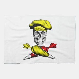 Pastry Chef Skull Towels