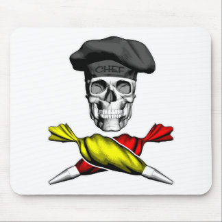 Pastry Chef Skull Mouse Pad