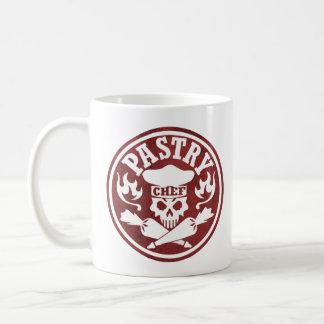 Pastry Chef Skull Red Coffee Mug