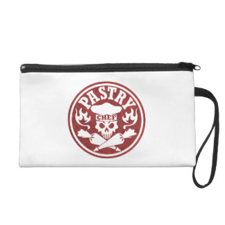Pastry Chef Skull Red Wristlet Purse