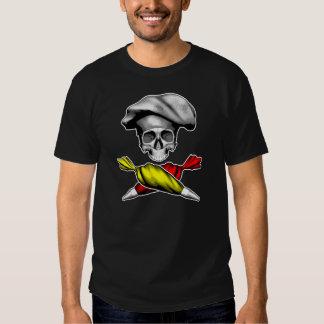Pastry Chef Skull T Shirt