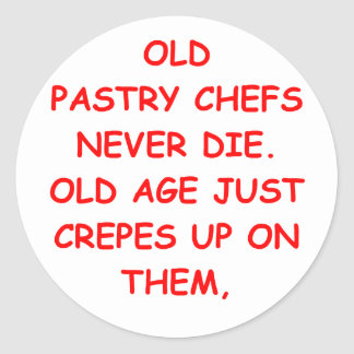 pastry chef round stickers