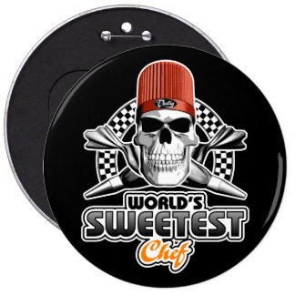 Pastry Chef: Sweet Chef (B&W) Pinback Button