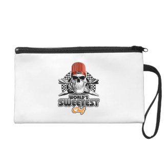 Pastry Chef: Sweet Chef (B&W) Wristlet Purse