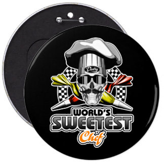 Pastry Chef: Sweetest Chef Pinback Button
