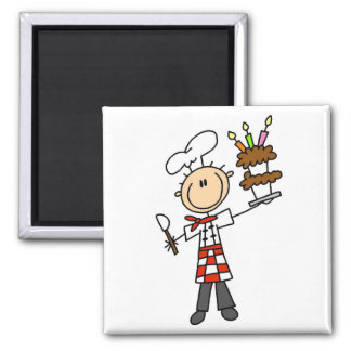 Pastry Chef Tshirts and Gifts 2 Inch Square Magnet