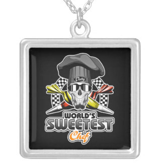 Pastry Chef: World's Sweetest Chef Silver Plated Necklace