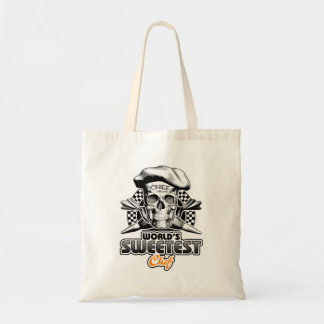 Pastry Chef: World's Sweetest Chef v6 (B&W) Budget Tote Bag