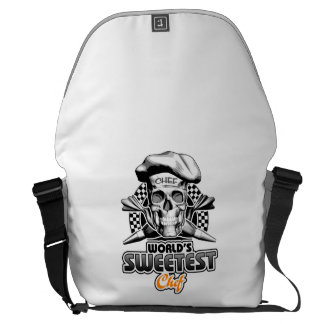 Pastry Chef: World's Sweetest Chef v6 (B&W) Courier Bag