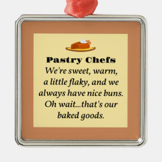 Pastry Chefs Metal Ornament