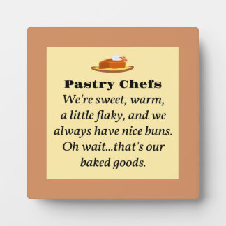 Pastry Chefs Photo Plaques