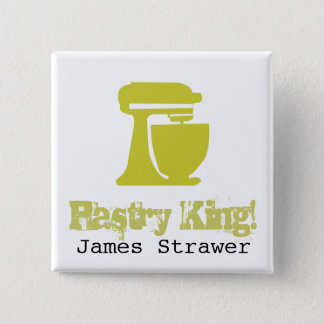 Pastry King Pinback Button