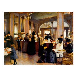 Pastry Shoppe Vintage Art 1889 Postcard