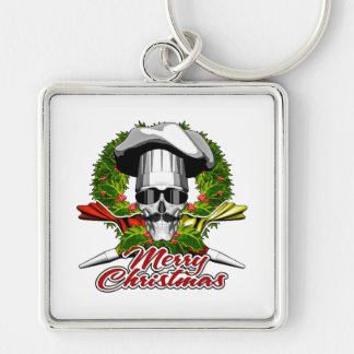 Pastry Skull: Merry Christmas Keychain