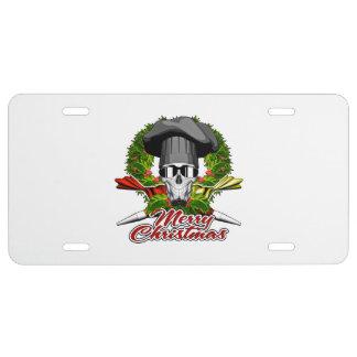 Pastry Skull: Merry Christmas V2 License Plate