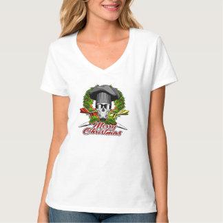 Pastry Skull: Merry Christmas V2 T-Shirt