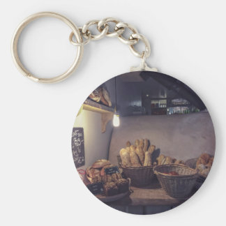 Pastry Themed, Vintage Bakery And Pastry Shop Inte Keychain