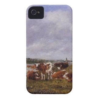 Pasturage, el valle del Touques Eugene Boudin iPhone 4 Case-Mate Coberturas