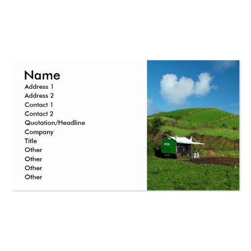 Pasture and dairy equipment business card