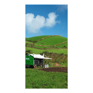 Pasture and dairy equipment photo card template