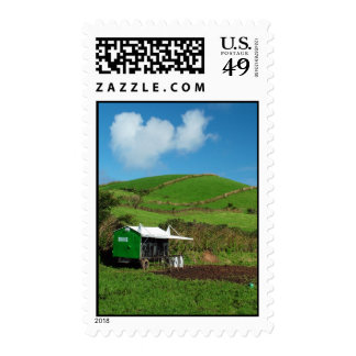Pasture and dairy equipment postage stamp