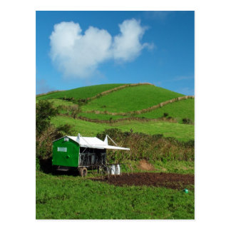 Pasture and dairy equipment post card