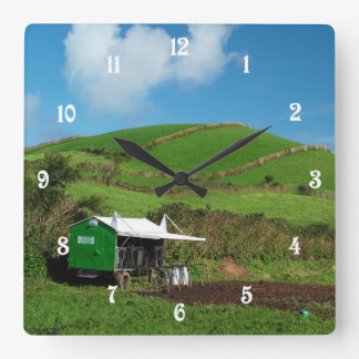 Pasture and dairy equipment square wall clock