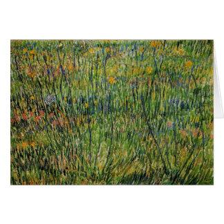 Pasture in Bloom by Vincent van Gogh Card